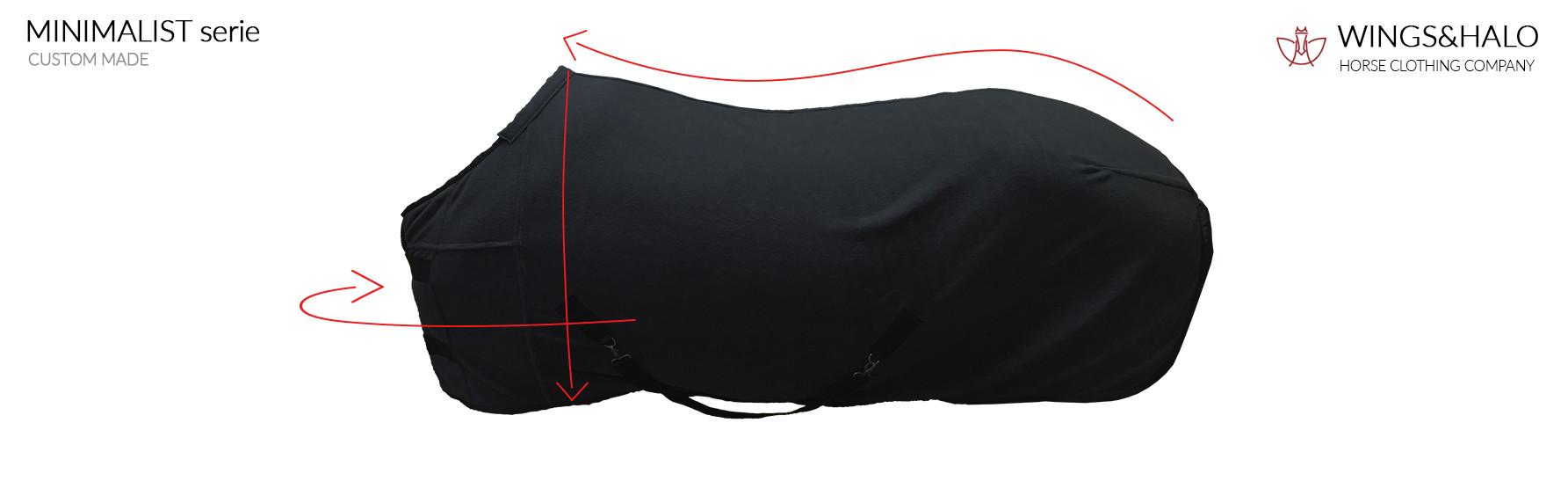 Measrement cooler horse rug minimalist